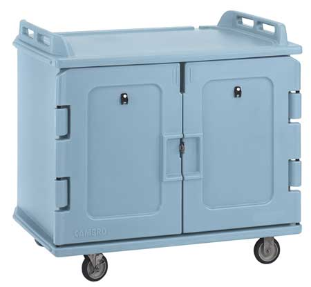 CAMBRO EAMDC1418S20401 Meal Delivery Cart,48 1/2x32 1/2x44,Blue G9812397