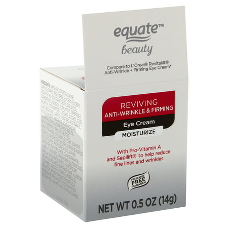 - Equate Beauty Reviving Anti-Wrinkle & Firming Eye Cream, 0.5 oz