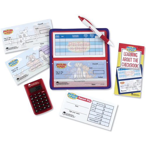 Learning Resources Pretend & Play Calculator Checkbook