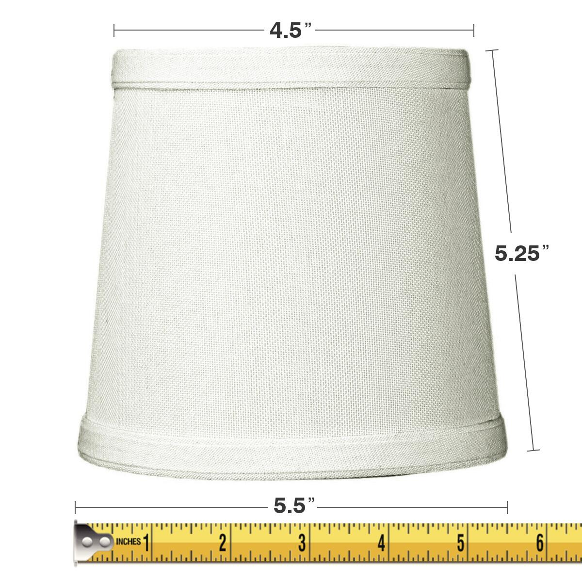 5x6x5 Light Oatmeal Linen Drum Chandelier Clip-On Lampshade by Home Concept