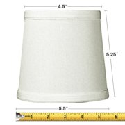 Chandelier lamp shades 5x6x5 light oatmeal linen drum chandelier clip on lampshade aloadofball Image collections
