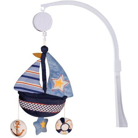 Lambs   Ivy Bedtime Originals Sail Away Musical Mobile