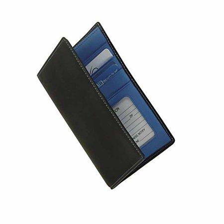 Leather Passport Wallet w Oversized Currency Pocket & Designer Color Interior