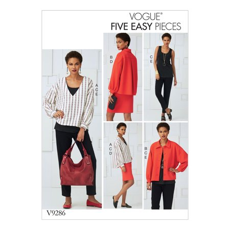 Vogue Patterns Sewing Pattern Misses' Tops, Straight Skirt, and Pants-L-XL-XXL (Armstrong 12 Point Straight Pattern)