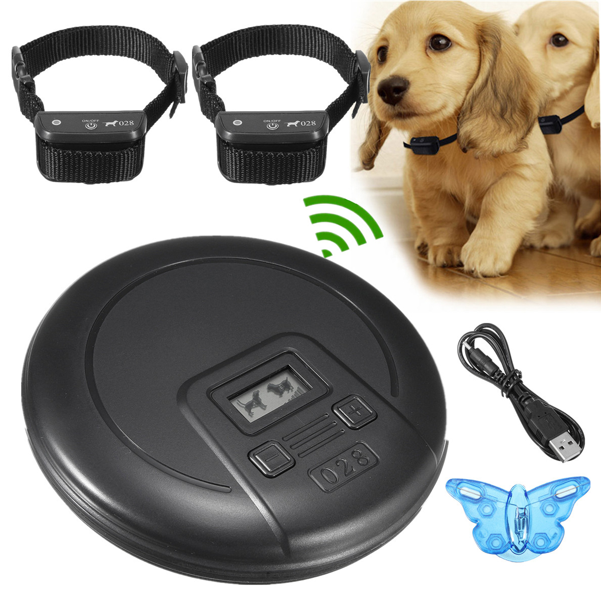 Harmless Digtal Wireless Indoor Pet Barrier Electronic Do...