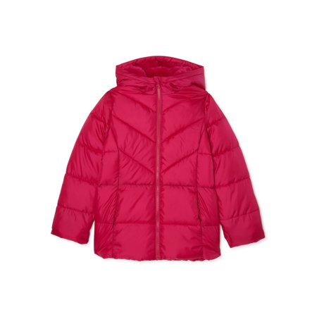 Wonder Nation Girls Bubble Jacket, Sizes 4-18 & Plus
