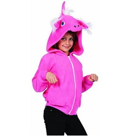 Diva Unicorn Hoodie Child Small, Pink