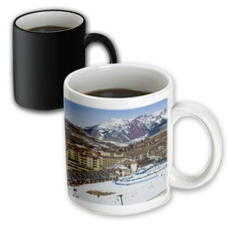 3dRose USA, Colorado, Mt Crested Butte Ski Village - US06 WBI0174 - Walter Bibikow - Magic Transforming Mug, 11-ounce Crested Butte Ski