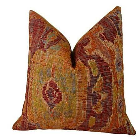 """Plutus Bear Canyon Ikat Handmade Throw Pillow, (20"""" x 20"""") - image 1 de 1"""