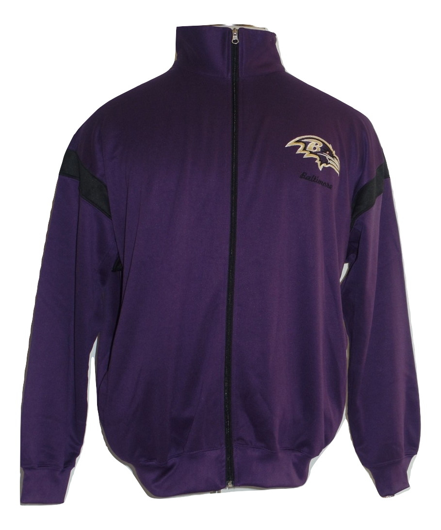 Baltimore Ravens Big and Tall Mens Poly fleece Full Zip jacket by G-III Sports