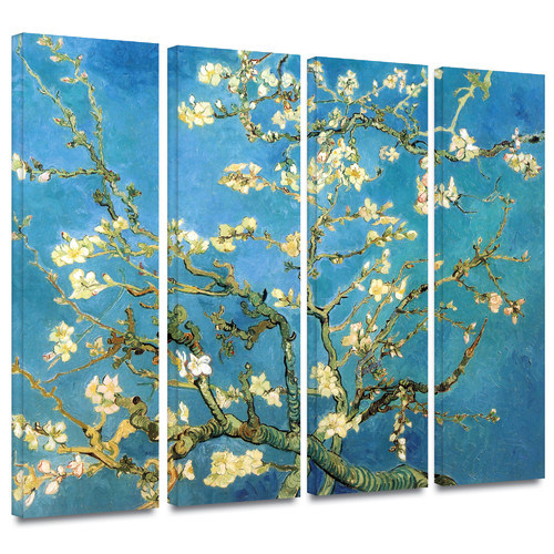 ArtWall 'Almond Blossom' by Vincent Van Gogh 4 Piece Painting Print on Wrapped Canvas Set