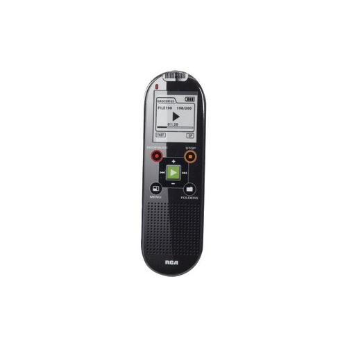 RCA VR6320 800-Hour Digital Voice Recorder with 1.5 LCD Display and USB Conne...
