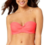 Collections By Women's Solid Twist Bandeau Swimsuit Top