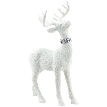 holiday time christmas decor white standing deer decor