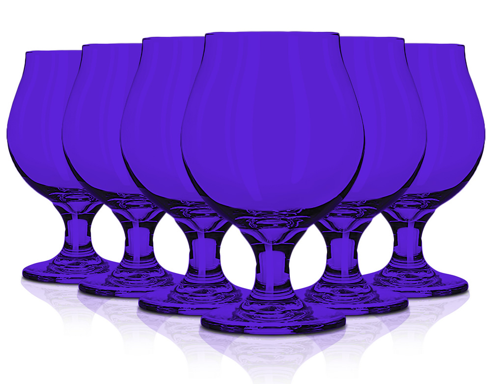 Libbey Glassware Belgian Beer Glass, 16 oz. set of 6 Purple By tabletop king by TableTop King
