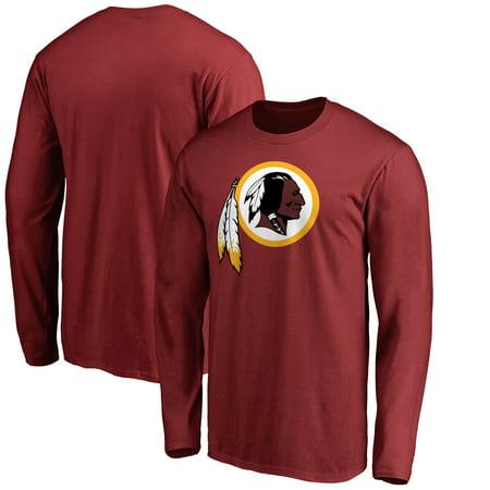Washington Redskins NFL Pro Line Primary Logo Long Sleeve T-Shirt - Burgundy ()