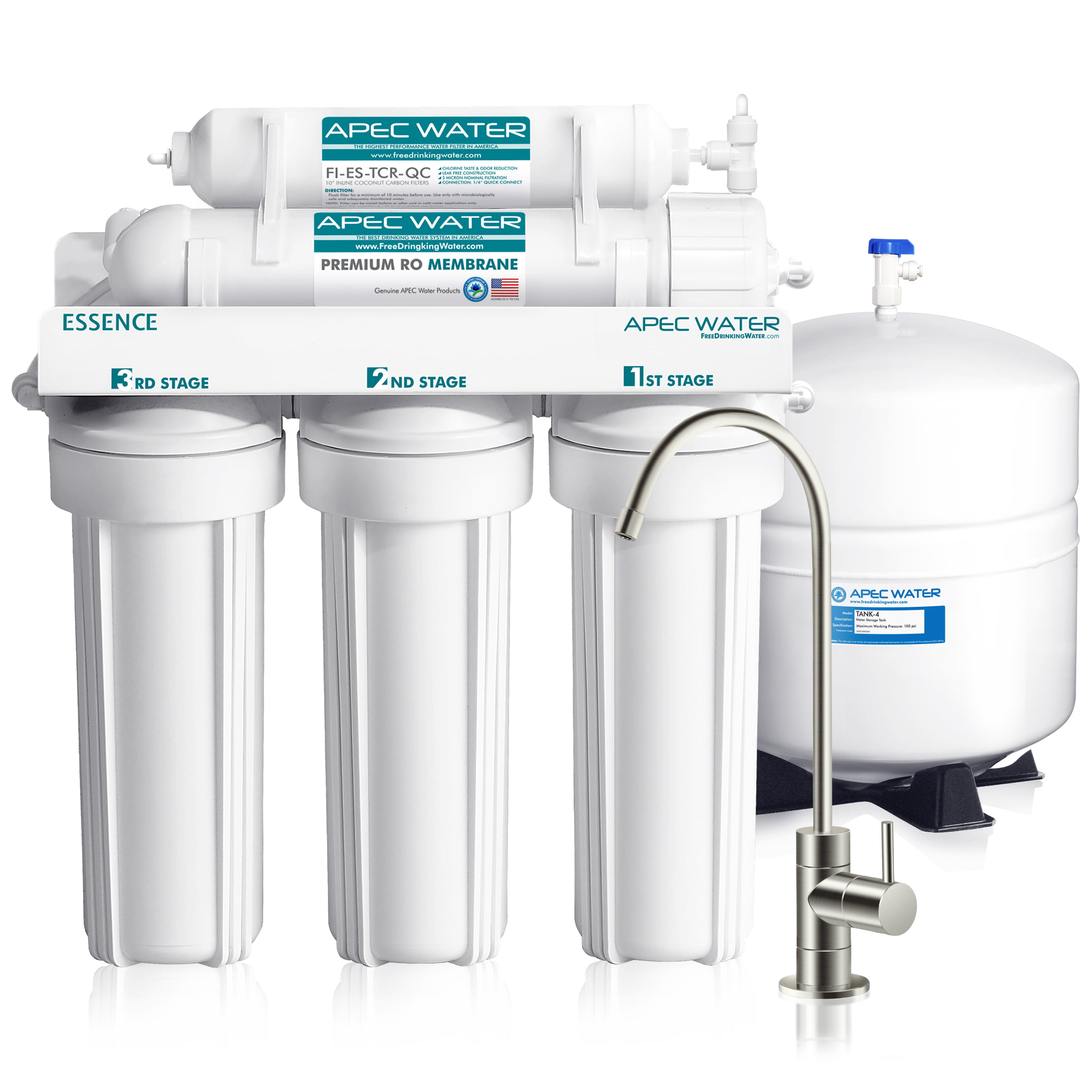 APEC Ultra Safe Reverse Osmosis Drinking Water Filter System (ESSENCE ROES-50) by APEC WATER SYSTEMS
