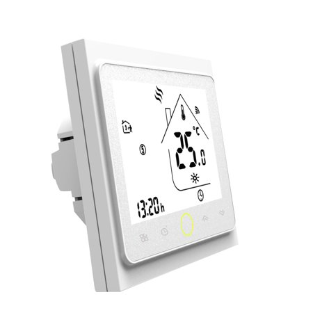 WiFi Thermostat with Touchscreen LCD Display Weekly Programmable Energy Saving Smart Temperature Controller for Electric Floor Heating (Best Touch Screen Programmable Thermostat)