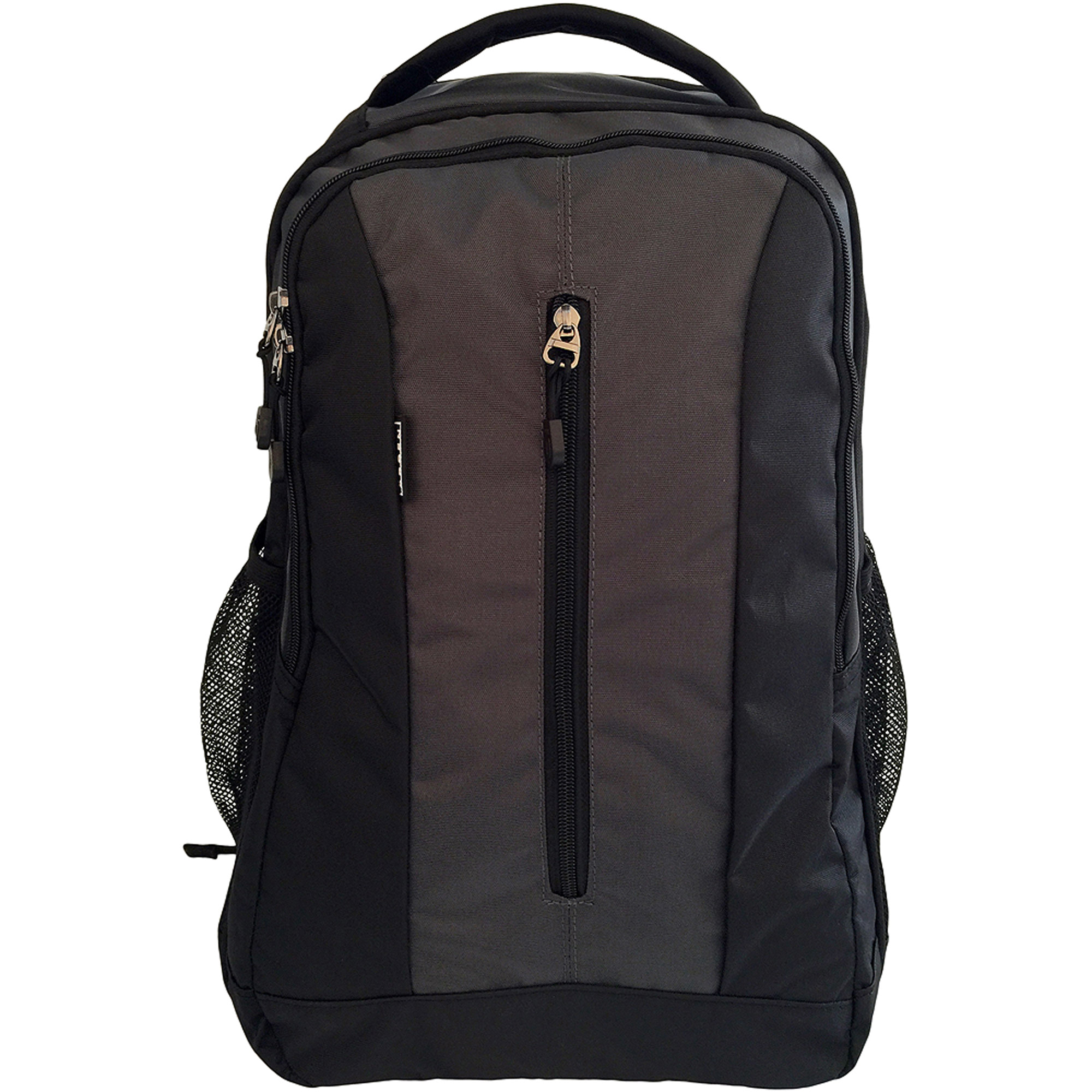 "ORBEN Vertical Zip Laptop Backpack, Large Compartment Fits 15"" Laptop Water Bottle Pocket for School Work Outdoor Black"