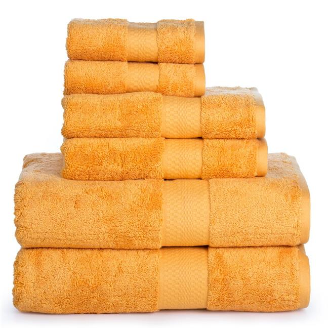 Affinity Linens AERO6PCTWL-BWN AeroSoft Premium Combed Cotton 710 GSM Bath Towel Set, Brown - One Size, 6 Piece