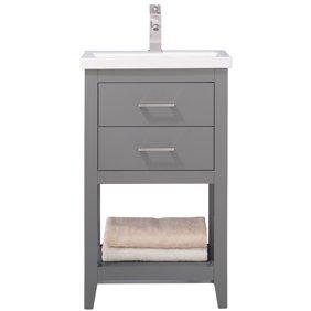 24 Inch Bathroom Vanity Set Combo Mdf Sink Cabinet Vanity With