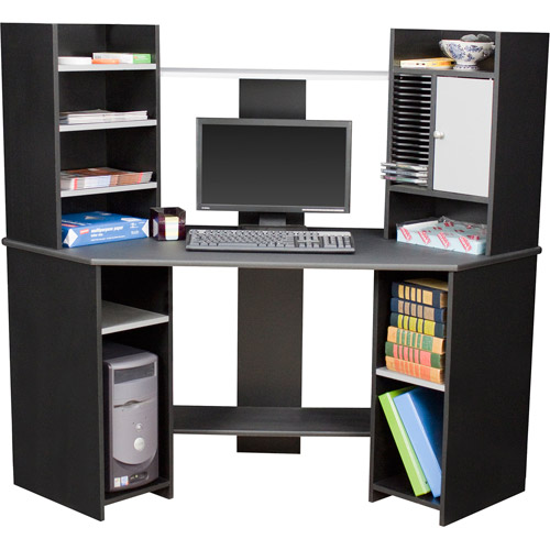 Delicieux Corner Computer Desk, Black And Gray   Walmart.com