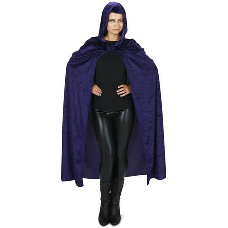 Purple Velveteen Adult Cape Halloween Accessory