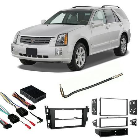 Fits Cadillac SRX 2007-2009 Single/Double DIN Harness Radio Install Dash Kit