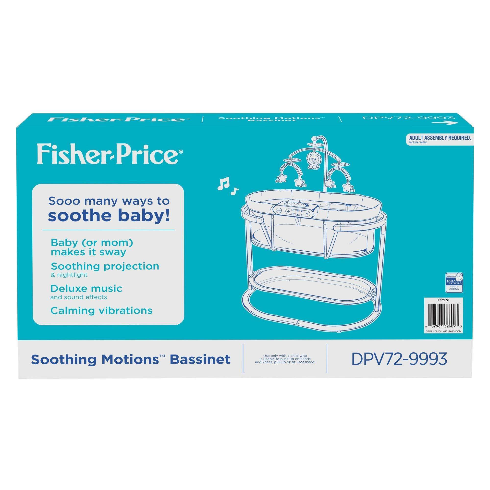 e0a7ecb1e2e Fisher-Price Soothing Motions Bassinet with Dual-Mode Lighting ...