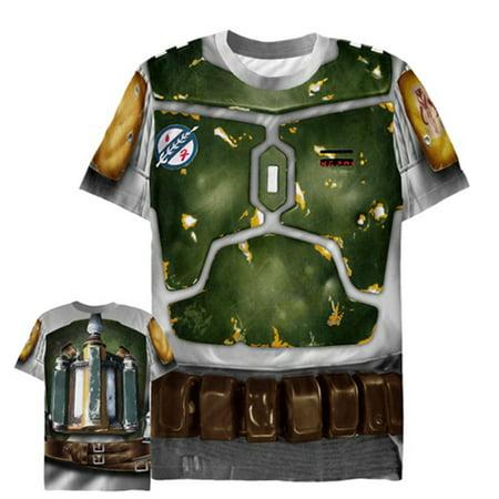 Star Wars Men's Bounty Hunter Boba Fett Costume All-Over Print T-Shirt - Bounty Hunter Costume Star Wars