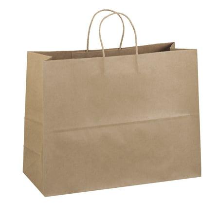 "16""x6""x12""• 25 Pcs • Brown Premium Kraft Paper Handle Shopping Durable Reusable Gift Merchandise Carry Grocery Retail Bags"