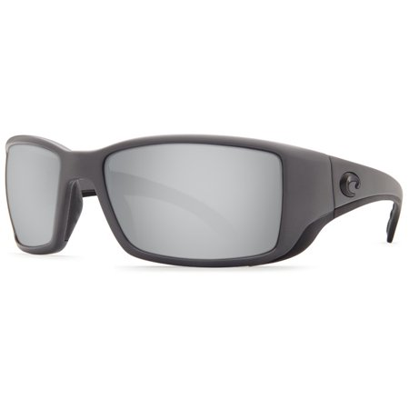Costa Del Mar Blackfin Matte Gray Sunglasses Silver Lens 580P