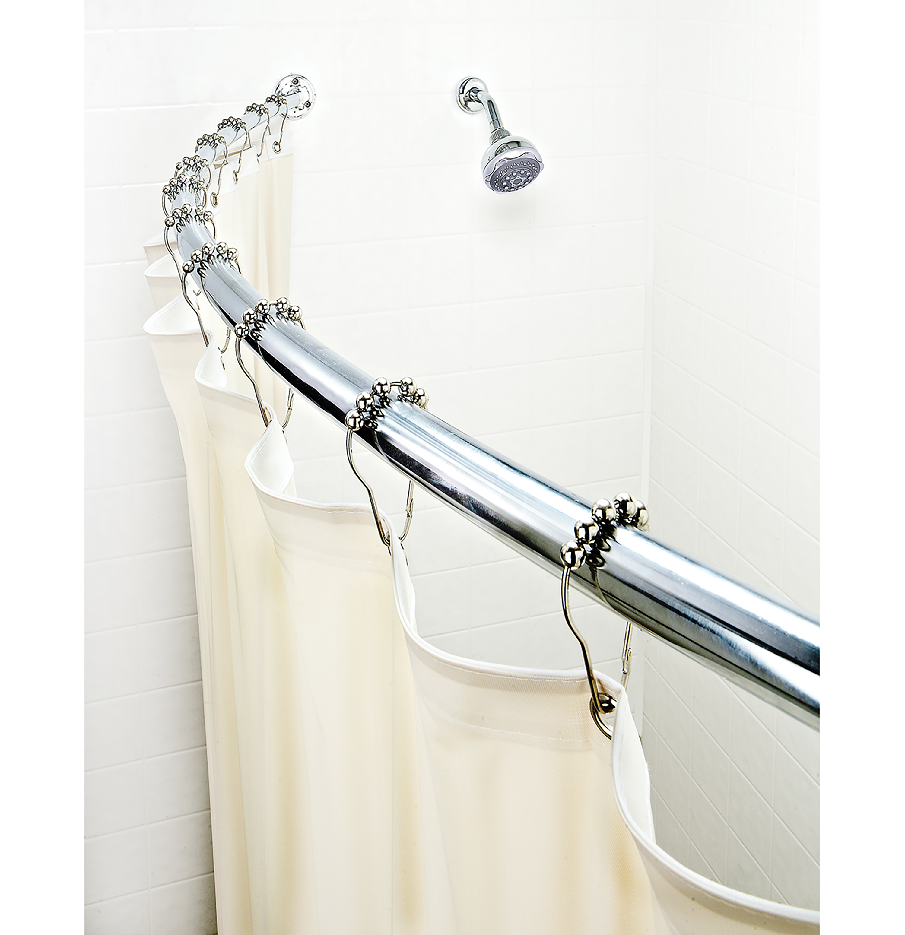 Curved Chrome Shower Rod