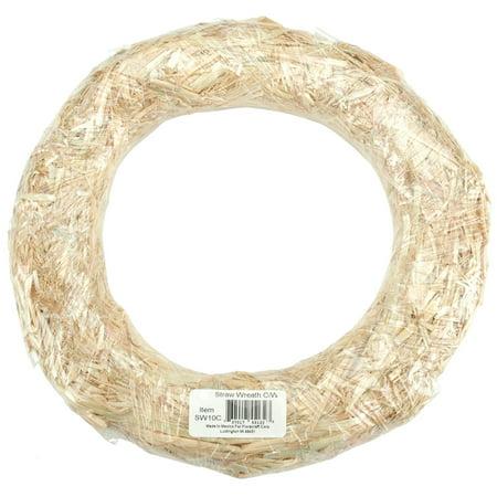 FloraCraft Straw Wreath - Round - Natural - 16 - Straw Wreath Form