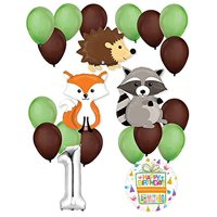 Woodland Critters Creatures 1st Birthday Party Supplies and Balloon Decorations