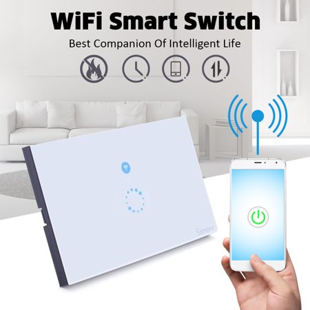 SONOFF Touch WIFI LED Light Switch Luxury Glass Panel