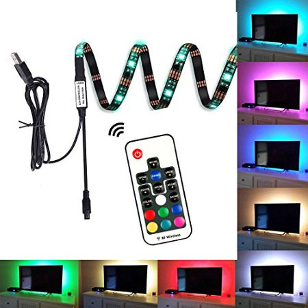EveShine Neon Accent LED Strips Bias Backlight RGB Lights with Remote Control for HDTV, Flat Screen TV Accessories and Desktop PC, Multi Color EveShine Neon Accent LED Strips Bias Backlight RGB Lights with Remote Control for HDTV, Flat Screen TV Accessories and Desktop PC, Multi Color