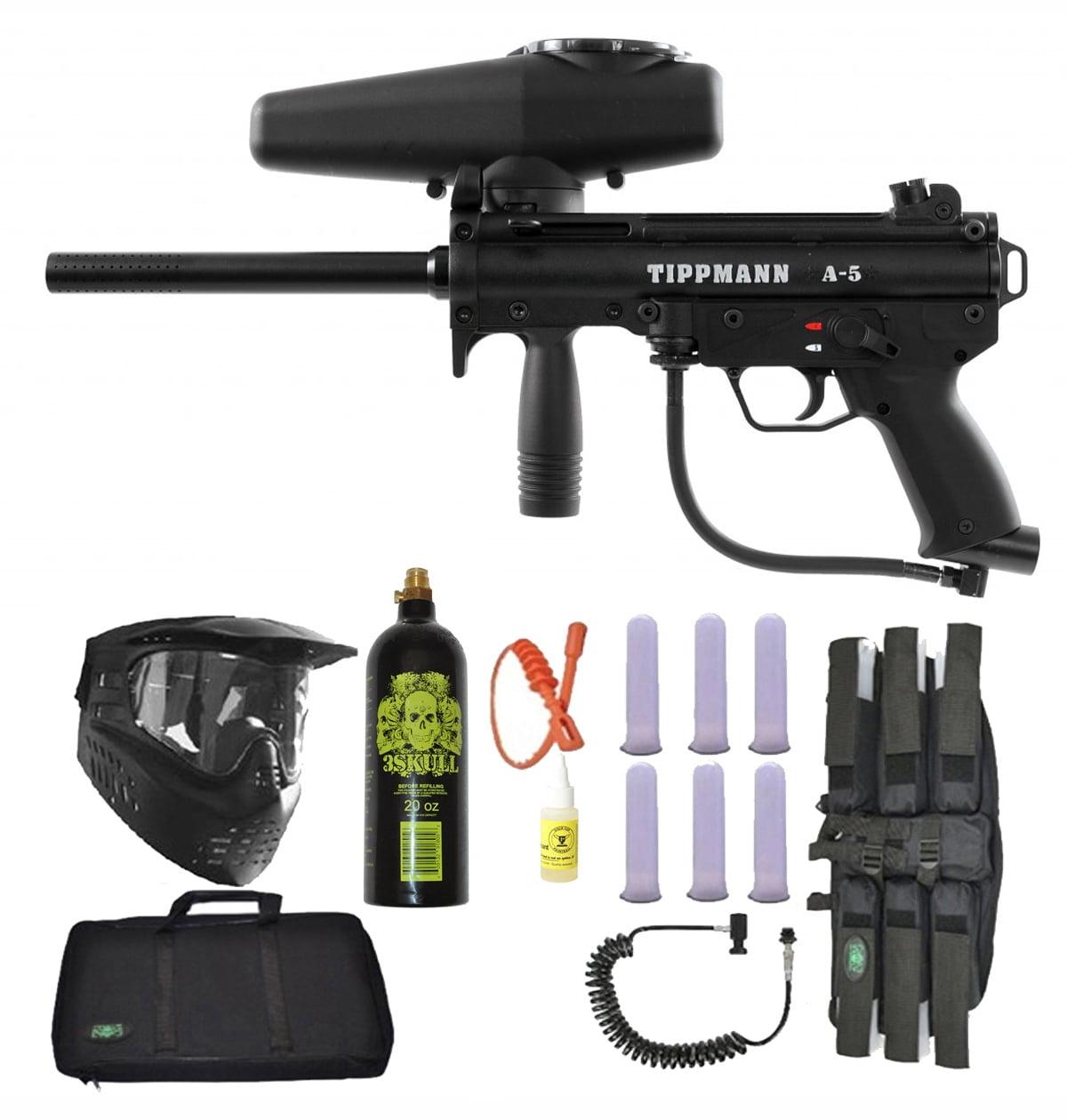 Tippmann A-5 Paintball Marker Gun 3Skull Sniper Set by