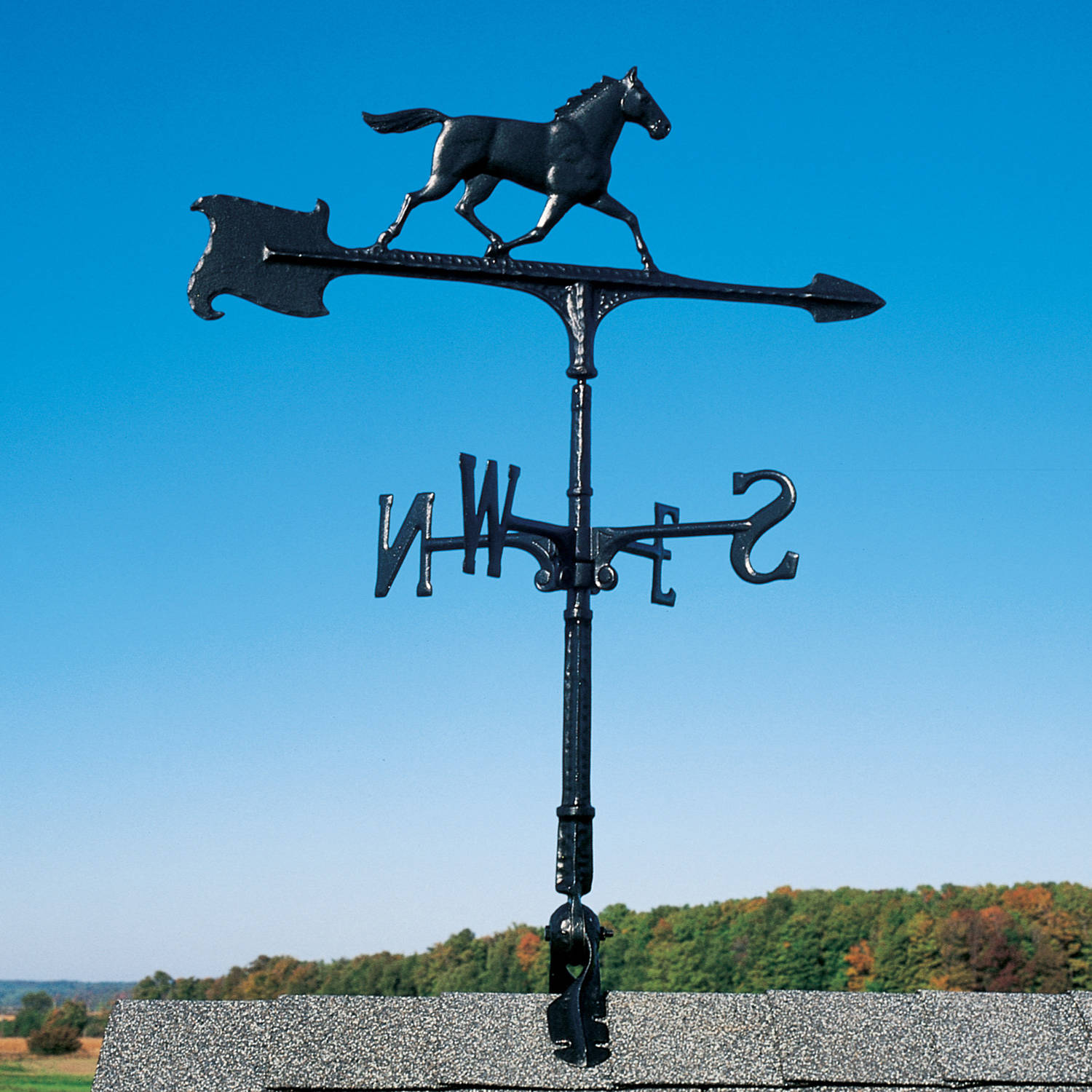 30 Horse Accent Weathervane, Black by