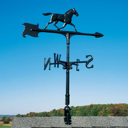 30 Horse Accent Weathervane, Black