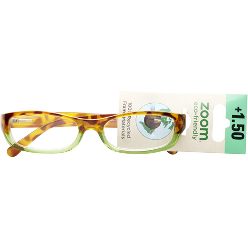 Zoom Eco Friendly Reading Glasses Tort Green Two Tone 1.50