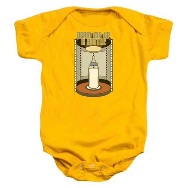 Star Trek-Bottle Beam Up - Infant Snapsuit - Gold, Small 6 Mos - image 1 of 1