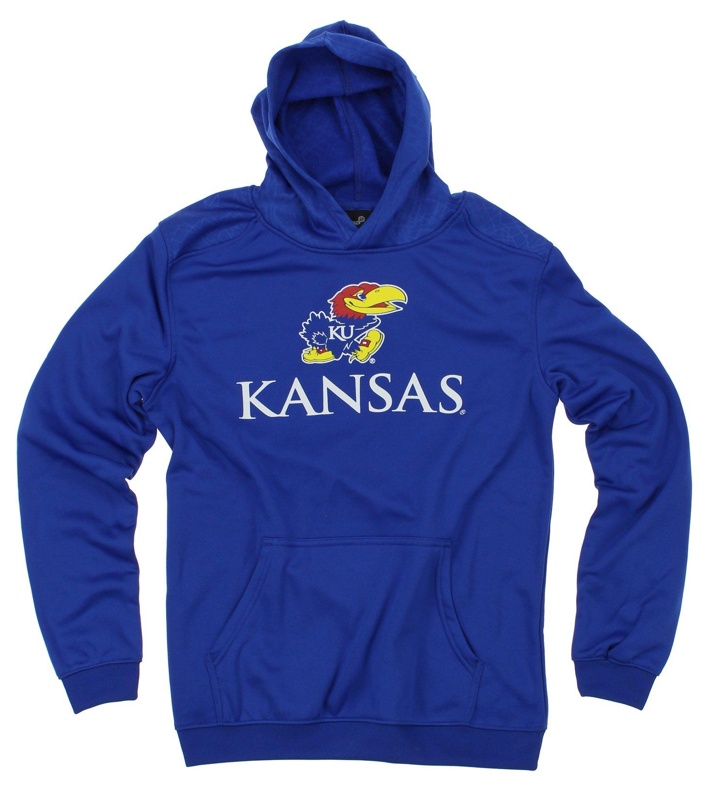 NCAA Youth Kansas Jayhawks Performance Hoodie, Blue
