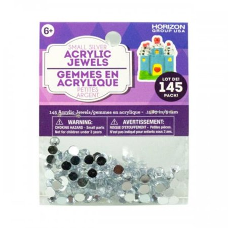 Bulk Buys KL22555 Small Silver Acrylic Jewels - Pack of (Black Mamba Jordan 11 Low For Sale)