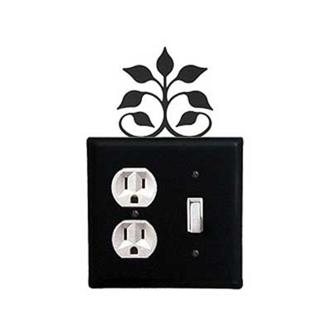 Village Wrought Iron EOS-109 Leaf Fan Outlet and Switch Cover - Black - image 1 of 1