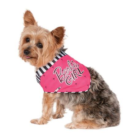 - Barbie Girl Pet Pink Zebra Print Dog Cat Bandana Collar