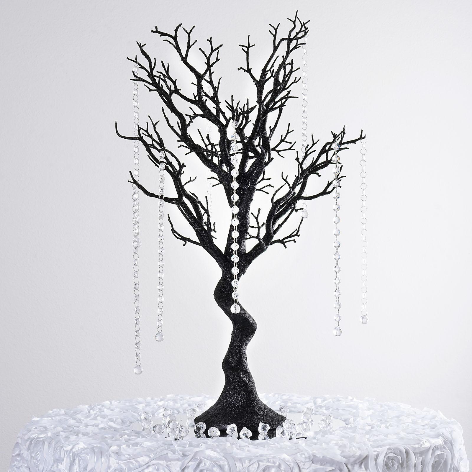 "BalsaCircle 30"" Glittered Manzanita Tree with Garlands - Wedding Party DIY Centerpieces Decorations Supplies"