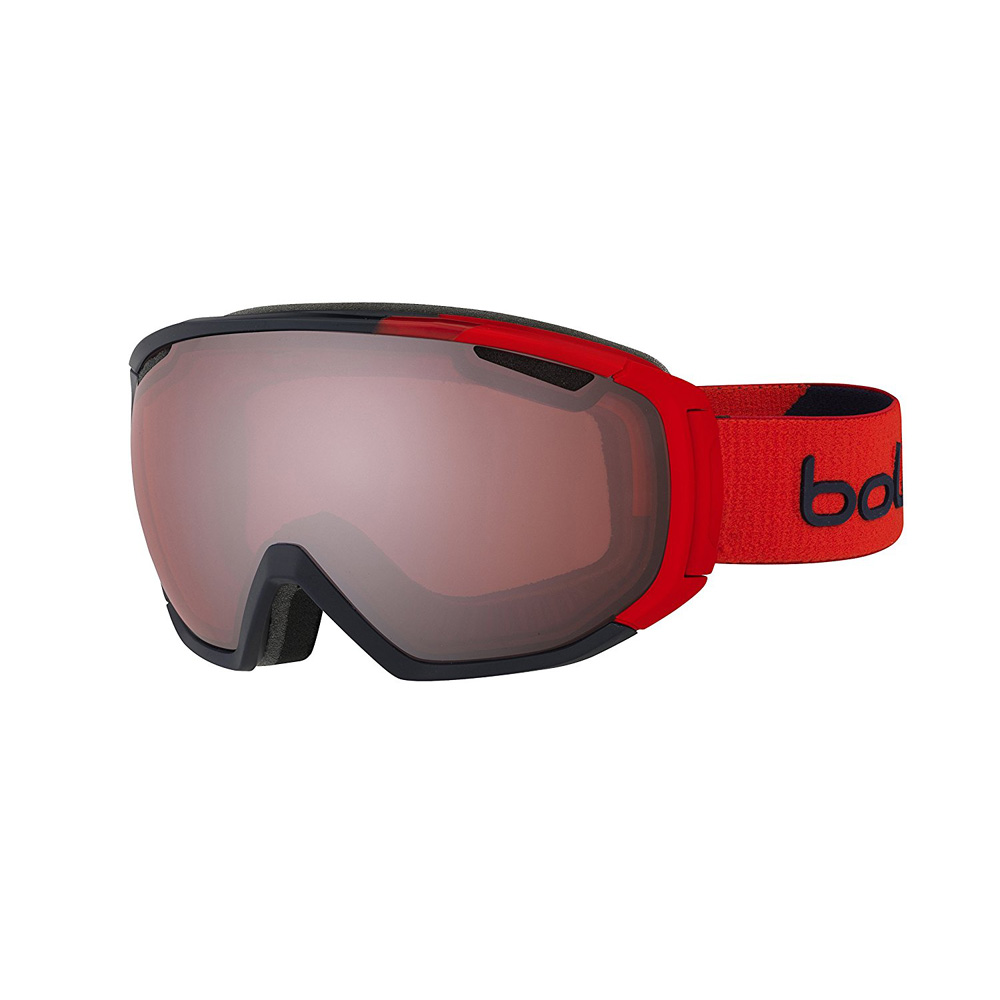 Bolle Winter Tsar Matte Red Vermillion Gun 21446 Ski Goggles M L Carbo-Glas Lens by Bolle