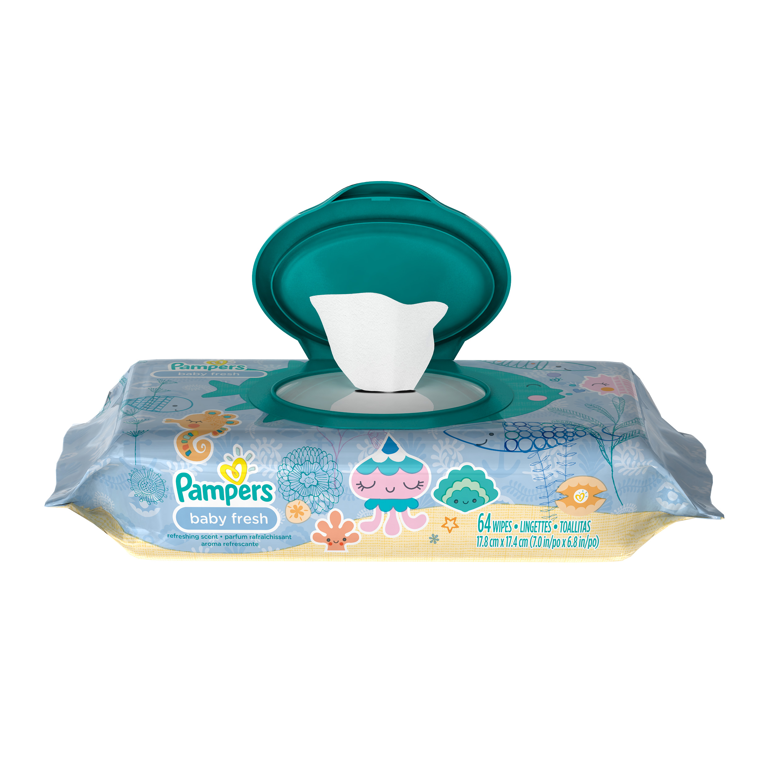 Pampers Baby Wipes Baby Fresh 1X 64 count