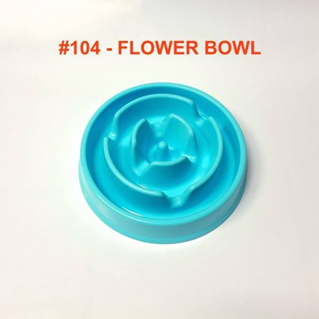 Alpha Dog Series Fun Slow Feeder Bowl - FLOWER (BLUE) Series Dog Bowl